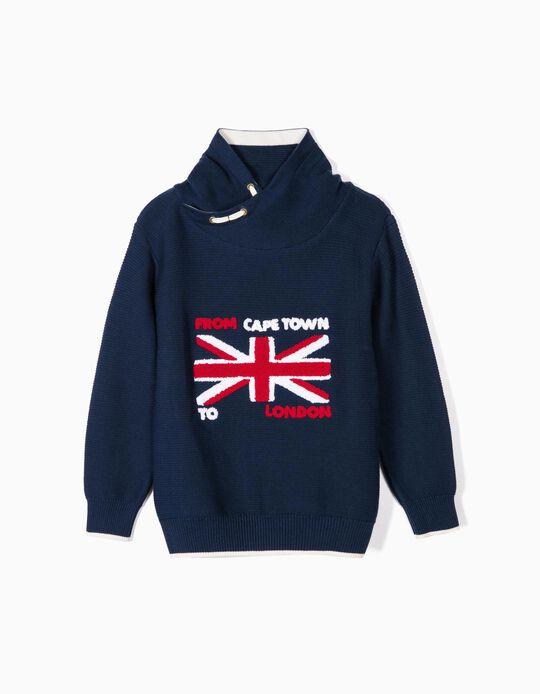 Camisola de Malha para Menino 'London', Azul Escuro