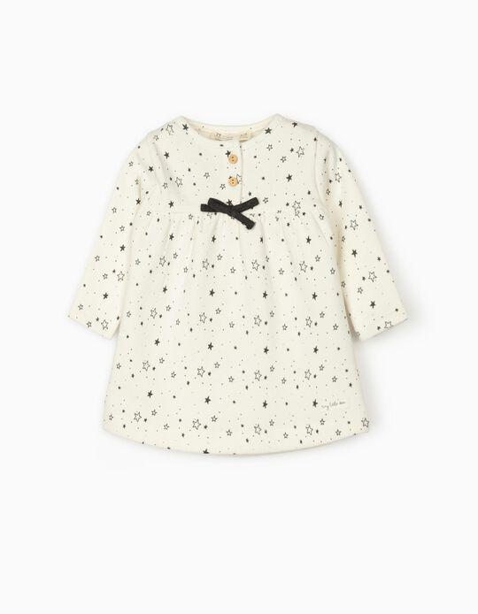 Dress for Newborn Baby Girls 'Stars', White