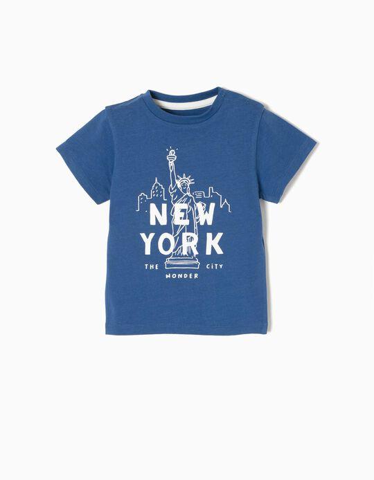 Camiseta New York Azul