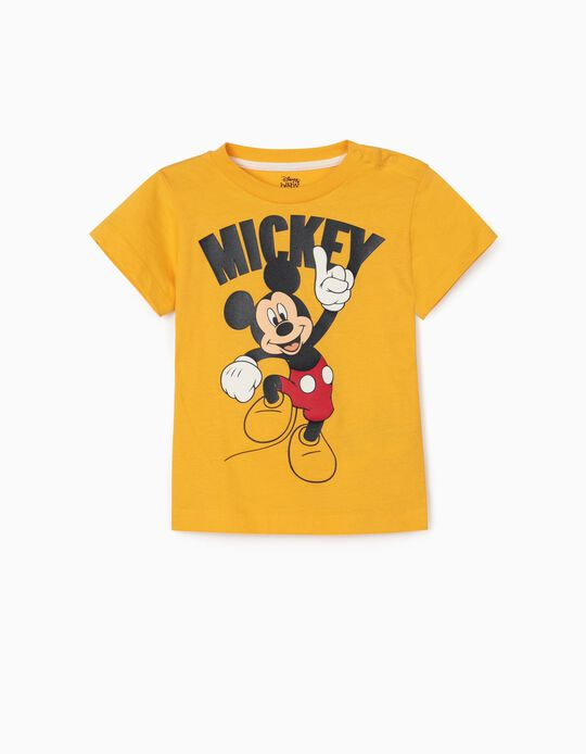 T-shirt for Baby Boys, 'Mickey', Yellow