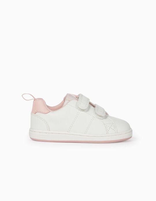 Sapatilhas para Bebé Menina 'ZY 1996', Branco e Rosa