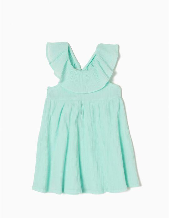 Vestido de Crepé Verde Claro