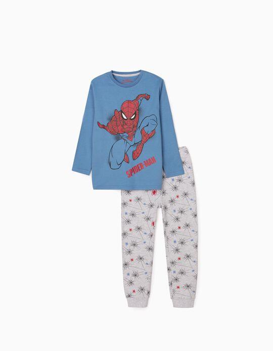 Long Sleeve Pyjamas for boys 'Spider-Man', Blue/ Grey