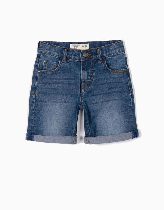Denim Shorts for Boy, Blue