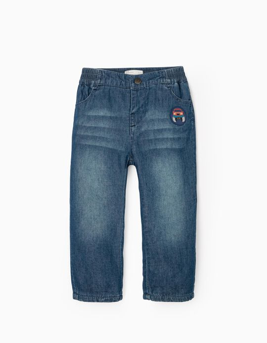 Jeans with Polar Lining for Baby boys, Blue