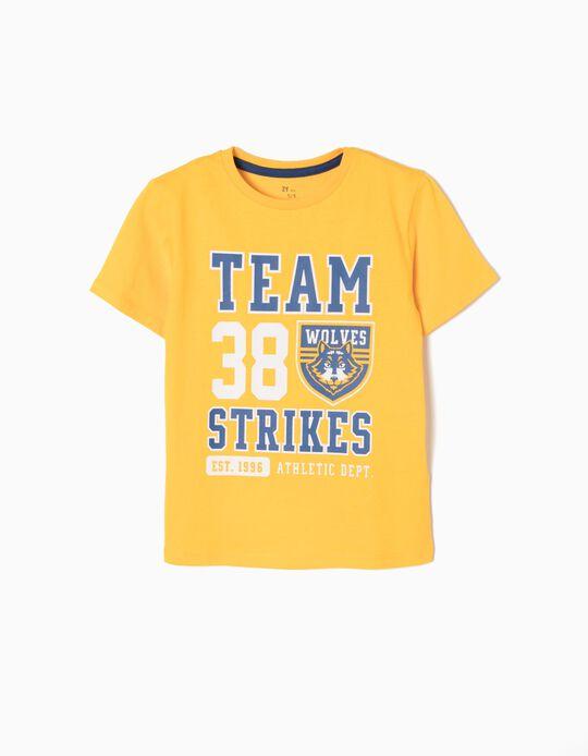 Camiseta Team Wolves Amarilla