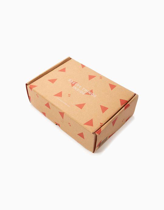 Petite boîte cadeau 'ZY', beige