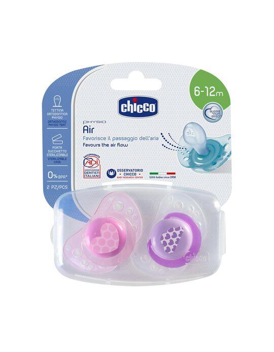 Chupete  Physio Air Silicona 6-12M Chicco 2Un.