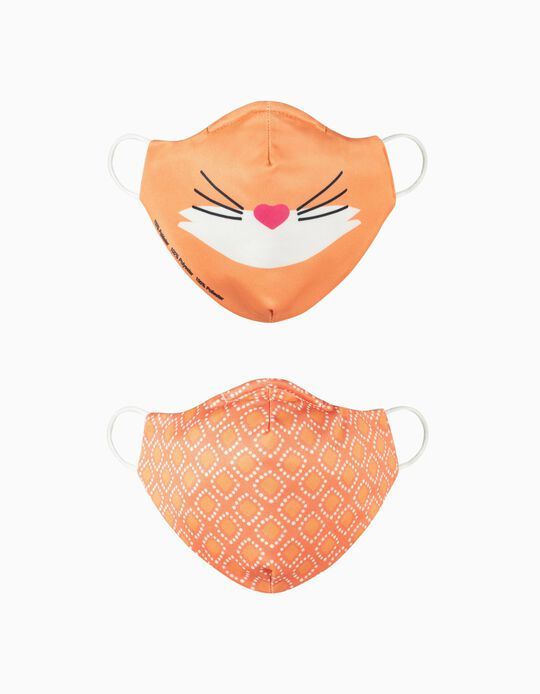 2-Pack Child Face Masks 'Air', Fox and Rhombus