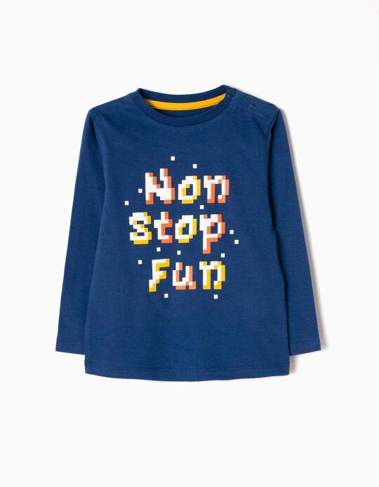 Camiseta de Manga Larga Estampada Non Stop Fun