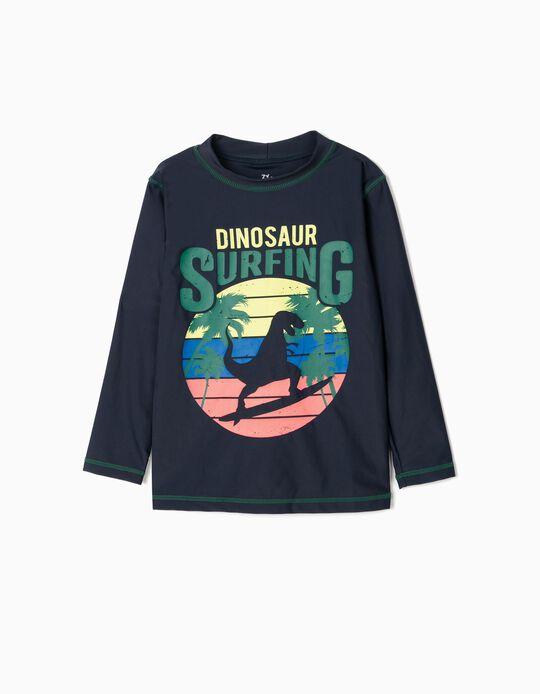 T-shirt de bain UPF 80 garçon 'Dinosaur', bleu foncé