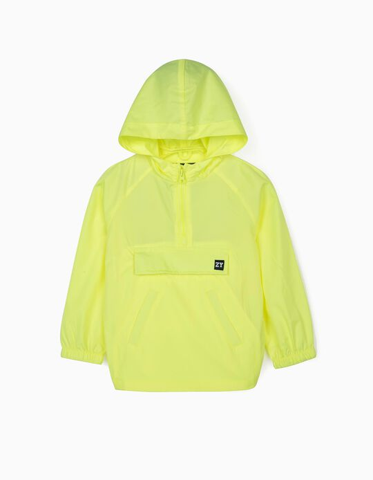 Windcheater Top for Boys, Neon Yellow