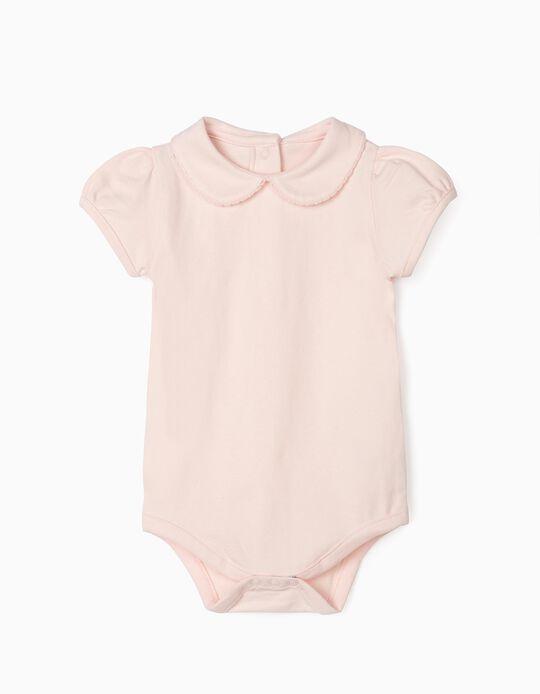 Short Sleeve Bodysuit for Baby Girls, Pink