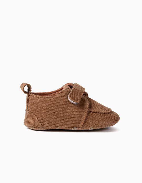 Zapatos de Pana para Recién Nacido, Marrones