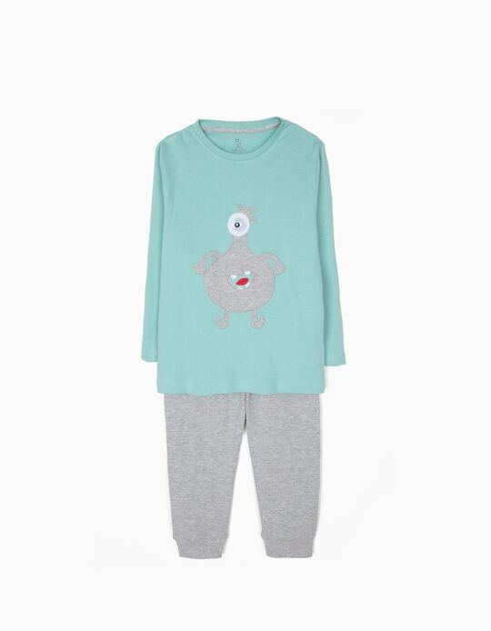 Pijama de Manga Larga y Pantalón Cute Monster