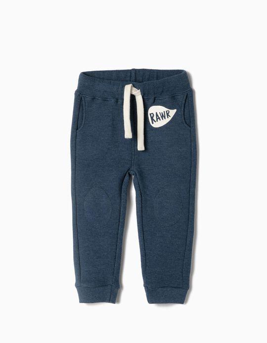 Pantalón de Chándal para Bebé Niño 'Rawr', Azul