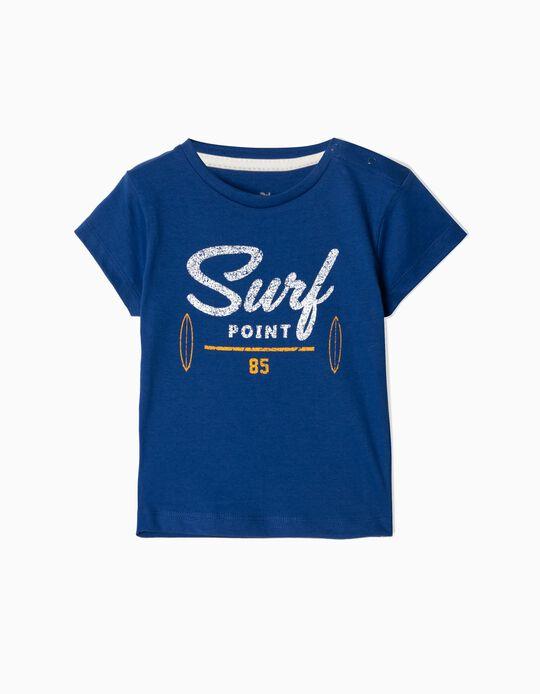T-shirt para Bebé Menino 'Surf Point', Azul