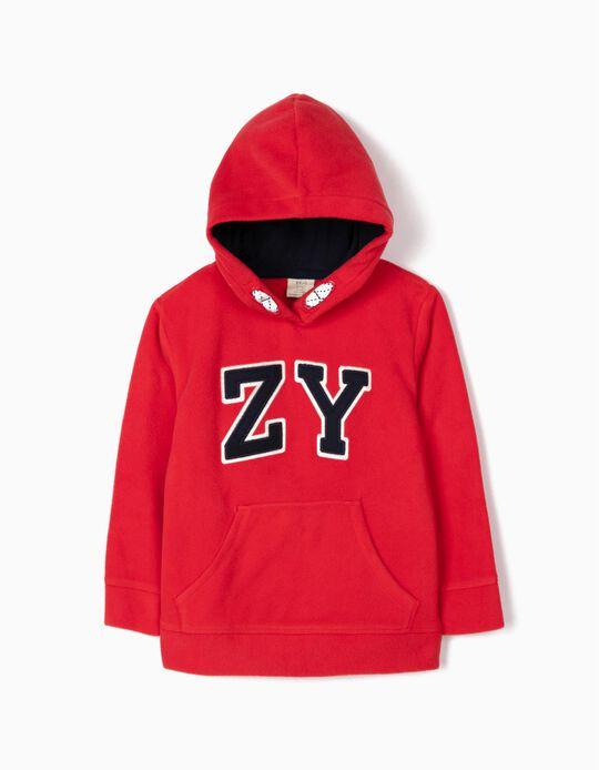 Sudadera Polar para Niño 'ZY', Roja
