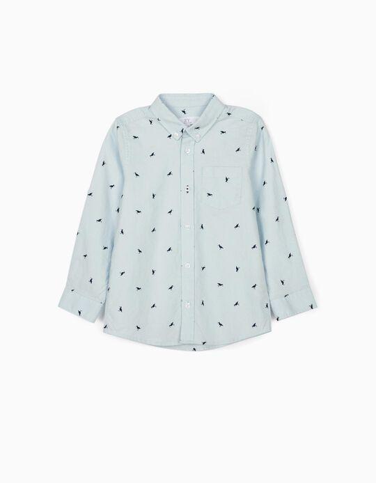 Shirt for Boys, 'Birds', Blue