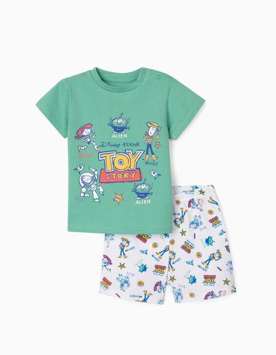 Pijama para Bebé Niño 'Toy Story', Verde/Blanco