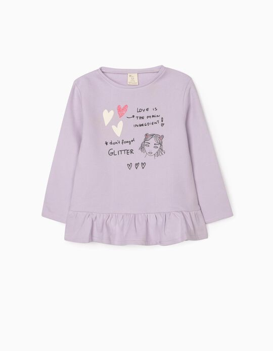 Sweat-Shirt for Girls 'Glitter', Purple