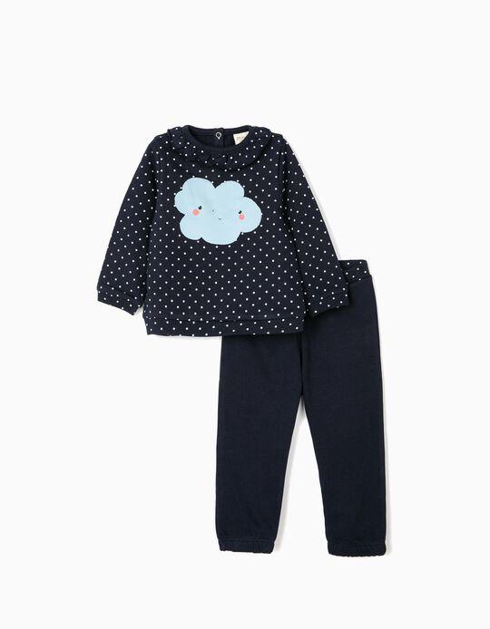 Fato de Treino para Bebé Menina 'Cloud', Azul Escuro