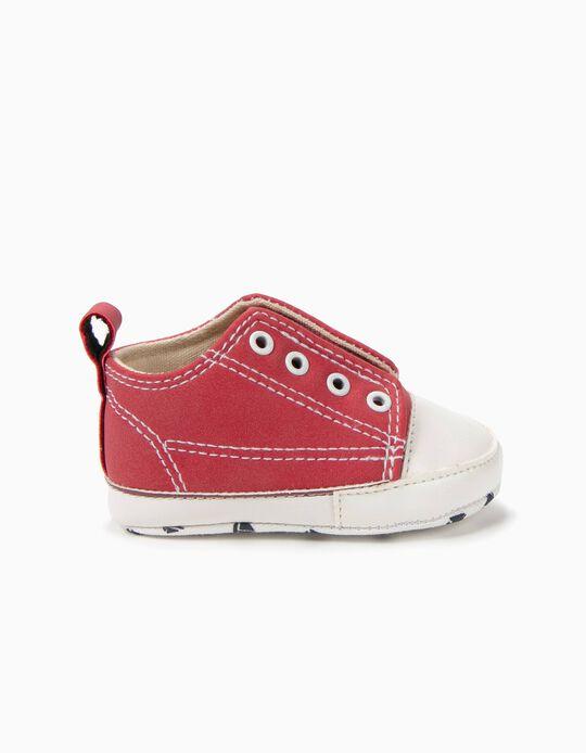 Sapatilhas Pre-Walker Slip-on Vermelhas