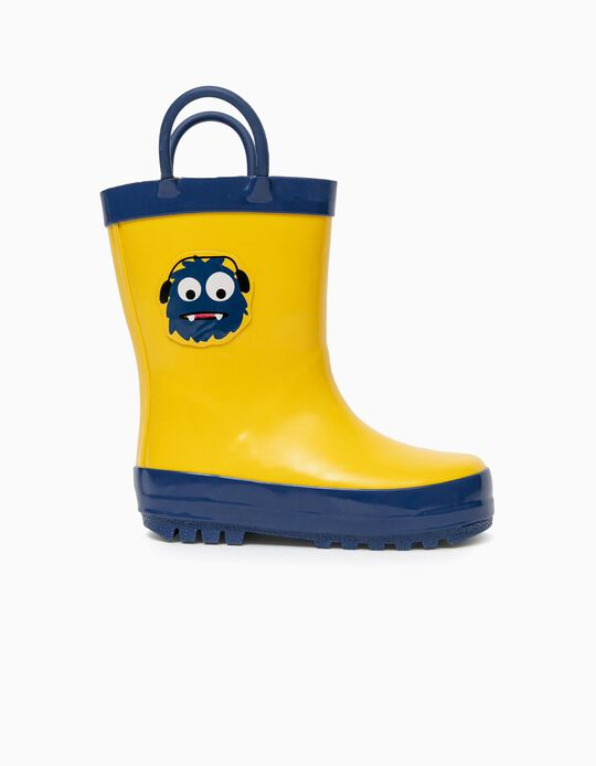 Wellies for Baby Boys, Yellow
