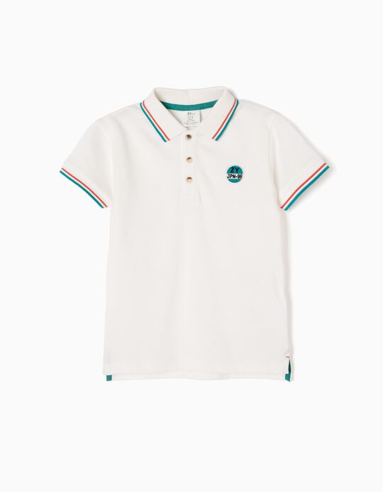 Short-sleeve Polo Shirt for Boys 'ZY JPN-96', White