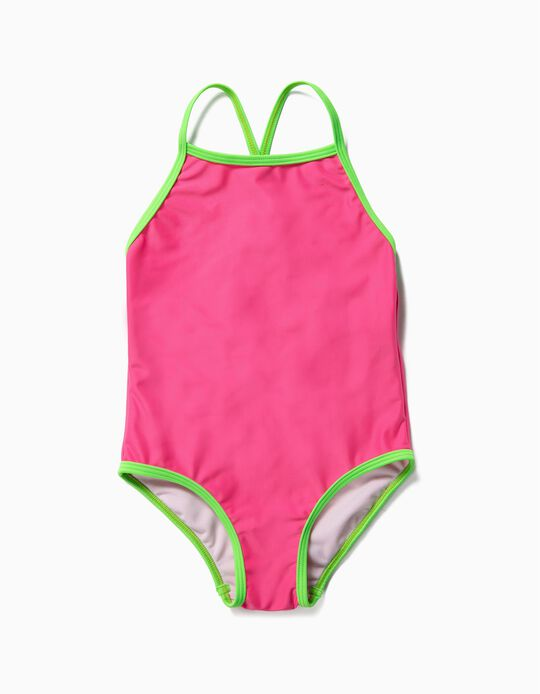 Bañador para Niña, Rosa y Verde