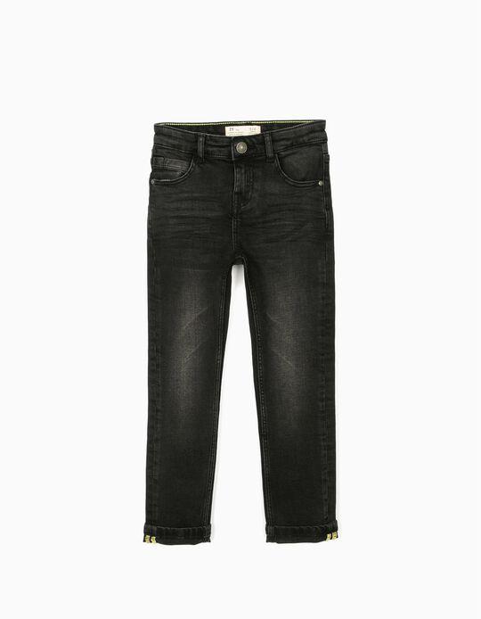 Denim Trousers for Boys, Black
