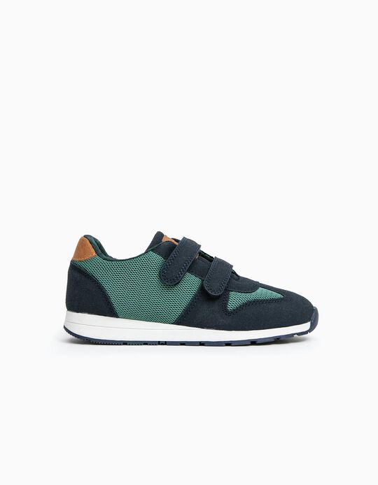 Trainers for Boys 'ZY 96', Green/dark Blue