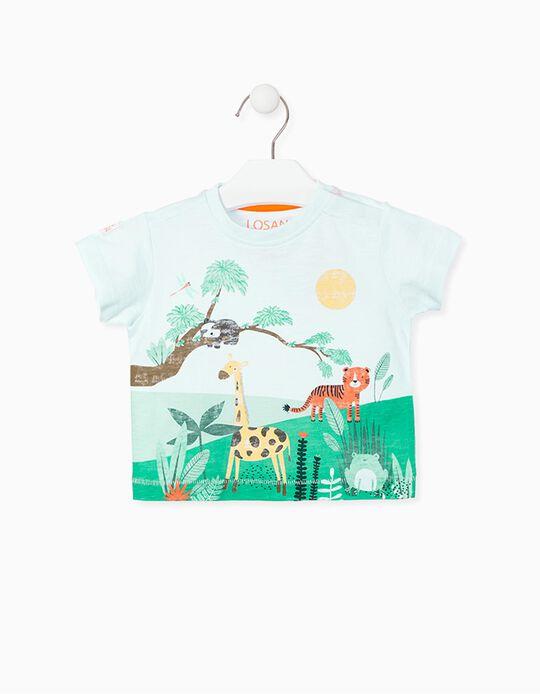T-shirt para Bebé Menino LOSAN, Branco