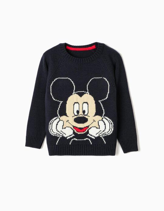 Knit Jumper for Boys 'Mickey', Dark Blue