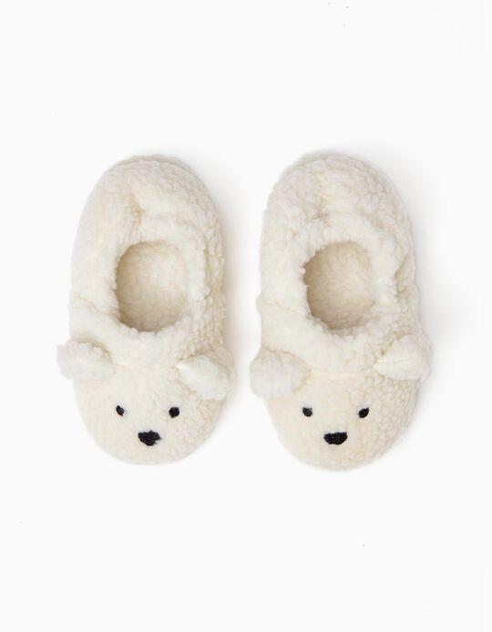 Pantufas para Menina  'Sheep', Branco