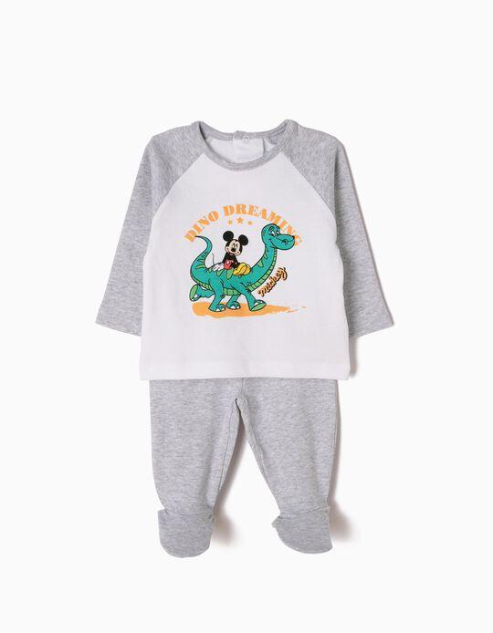 Pijama de Manga Larga y Pantalón con Pies Mickey & Dino