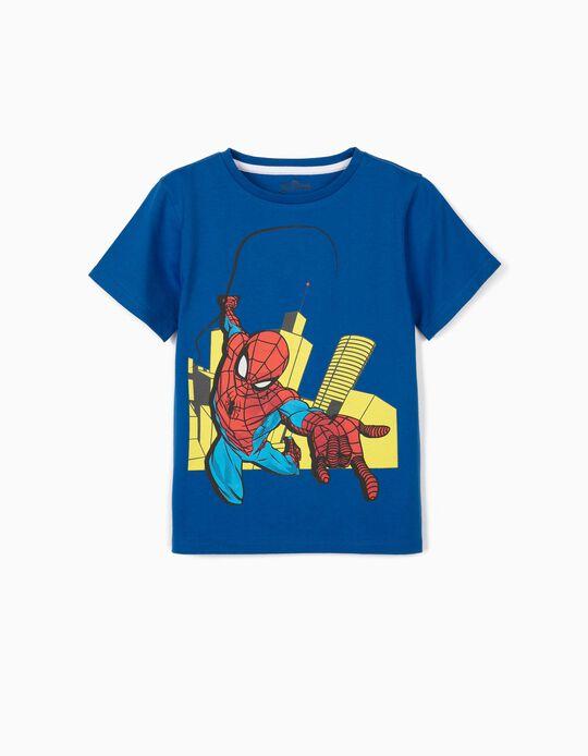 T-Shirt for Boys, 'Spider-Man', Blue
