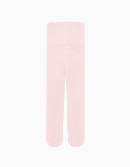 High-Waist Knit Tights for Newborn, Pink