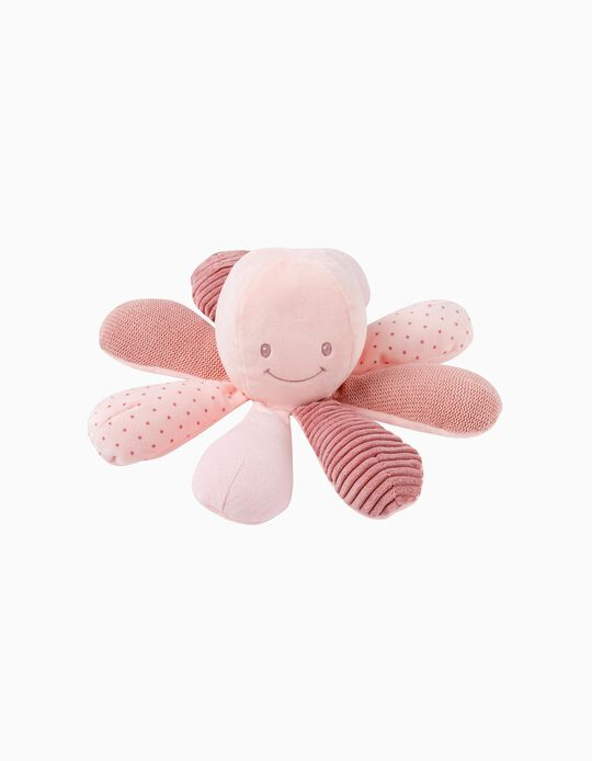 Lapidou Octopus 22 cm by Nattou, Pink