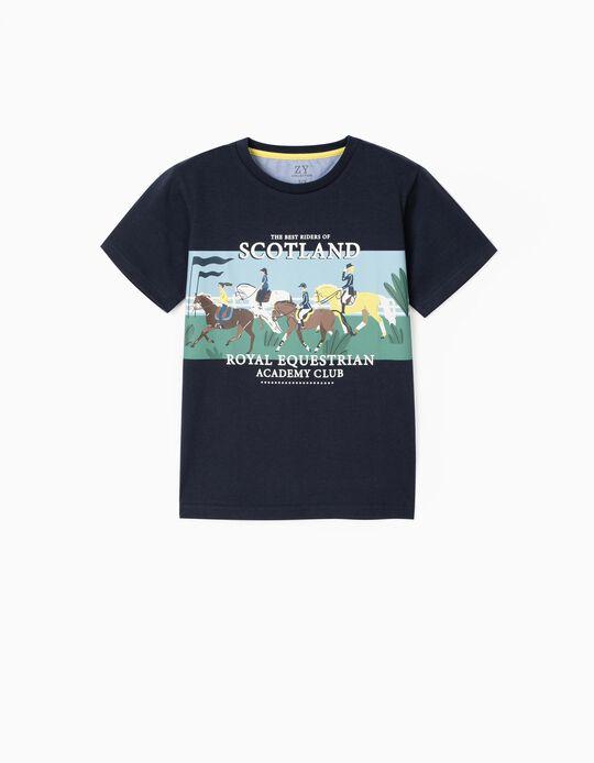 Camisetas para Niño 'Scotland', Azul Oscuro