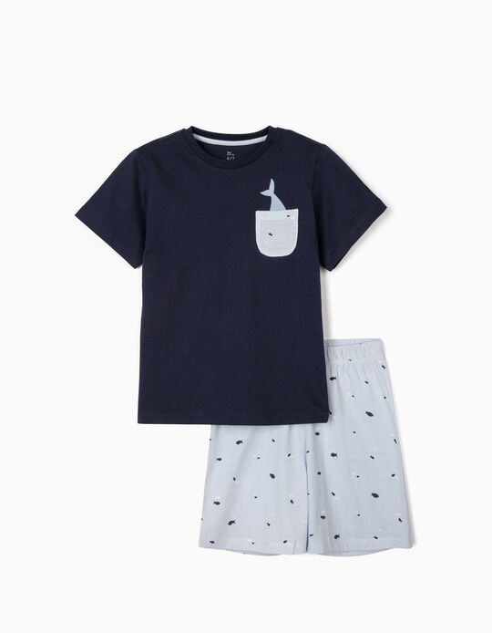 Pyjamas for Boys, 'Fish', Blue