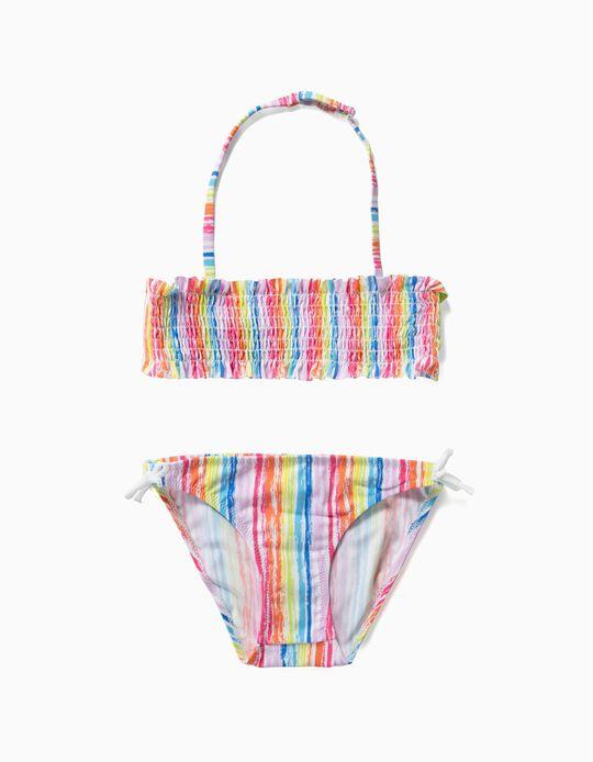 Bikini para Niña 'Rayas', Multicolor