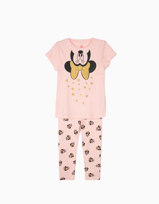 Pijama para Menina 'Minnie' com Estrelas, Rosa
