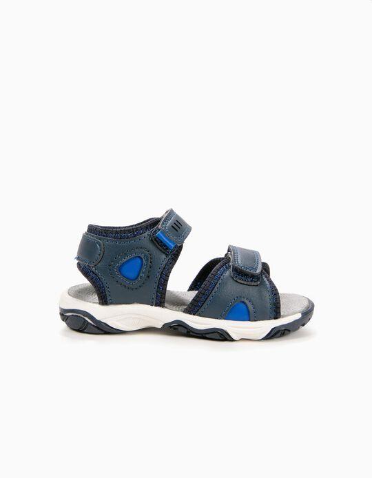 Sandalias para Bebé Niño, Azul Oscuro
