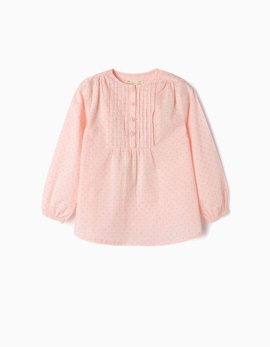 Blusa para Niña 'Lunares', Rosa Claro