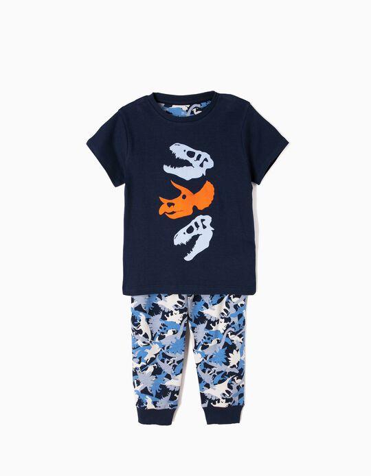 Pijama Manga Corta y Pantalón Dinosaurios