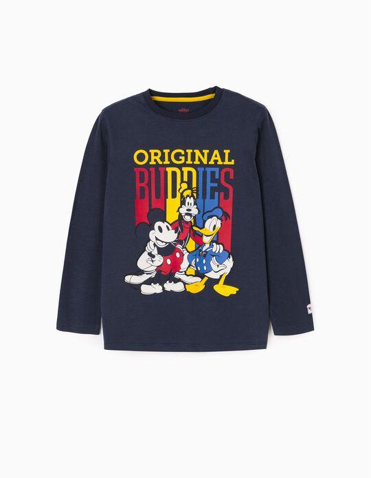 T-shirt manches longues garçon 'Mickey & Friends', bleu