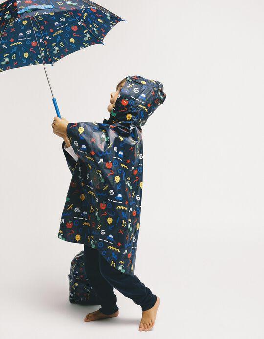Guarda-Chuva para Menino 'ABC', Azul Escuro