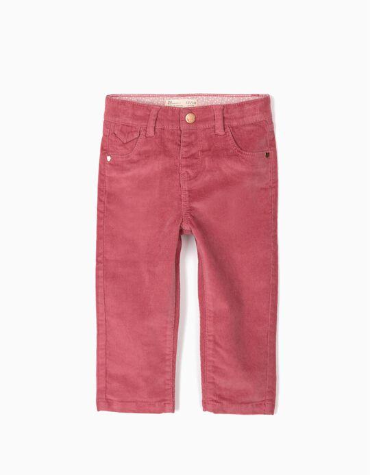 Pantalón de Pana para Bebé Niña, Rosa