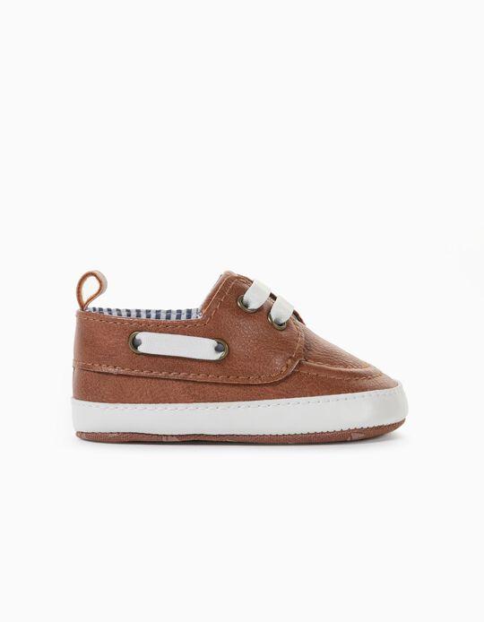 Sapatos de Vela para Recém-Nascido, Castanho